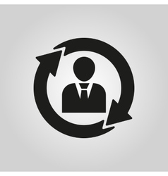 The human resources icon management and rotation vector
