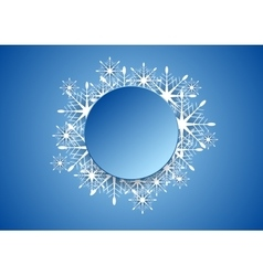 Blue modern christmas snowflakes background vector