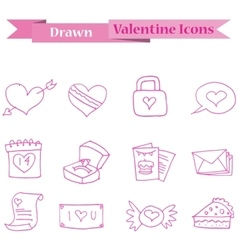 Pink icon of valentine collection stock vector