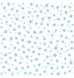 Seamless abstract pattern with snowflakes vector image
