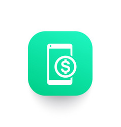 mobile banking icon payment with smartphone vector image