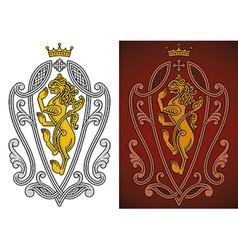 Heraldic royal lion vector image