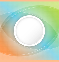 Abstract colorful background with circular space vector