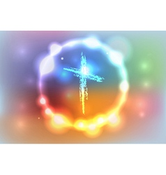 Heaven glow cross vector