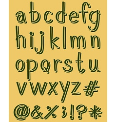 Letters of the alphabet in green color vector