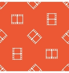 Orange movie pattern vector