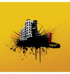 Grunge buildings vector