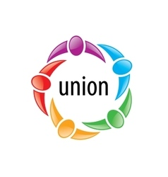 Logo union people vector
