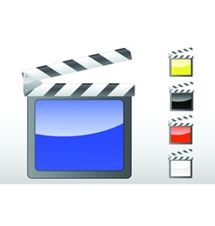 Movie clapper icon vector