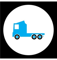 Simple blue truck car isolated icon eps10 vector
