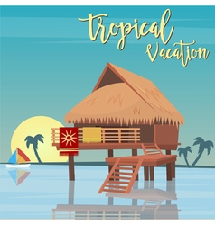 Beach vacation tropical paradise exotic island vector