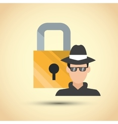 Security design protection icon colorful vector