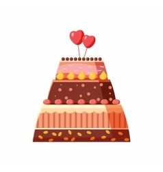 Wedding cake icon cartoon style vector
