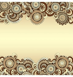 abstract floral decorative background Template vector image