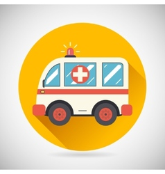 Ambulance Car Hastens Aid Rescue Icon Heal vector image vector image