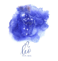 Astrology sign leo vector
