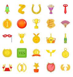 award icons set cartoon style vector image vector image