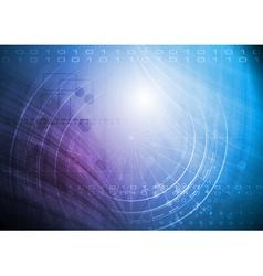 Blue hi-tech design vector image vector image