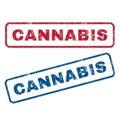 Cannabis rubber stamps vector
