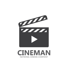 cinema logo or icon vector image