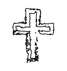 Cross black icon vector