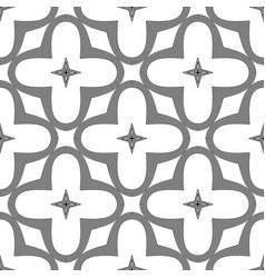 Design seamless monochrome floral pattern vector