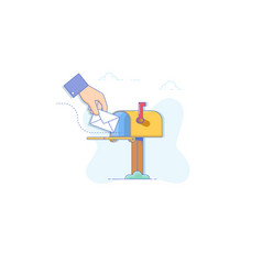 email message concept new incoming message sms vector image