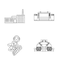 Factory enterprise buildings and other web icon vector