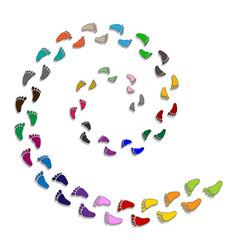 Feet like spiral steps vector