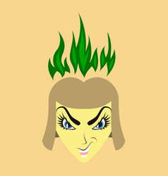 Flat icon on theme evil women vector
