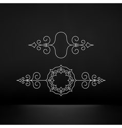 Flourishes Calligraphic Frame Retro Design vector image vector image