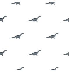 Grey titanosaurus dinosaur pattern seamless vector
