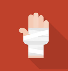 hand and bandage icon vector image vector image