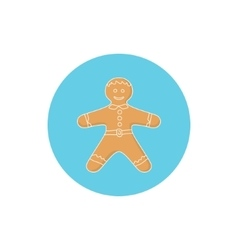 Icon colorful gingerbread man vector
