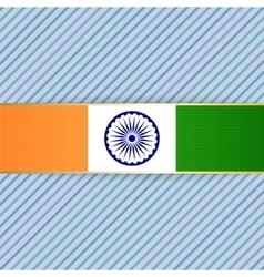 India patriotic banner and ribbon vector