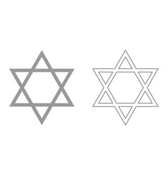 jewish star of david it is icon vector image