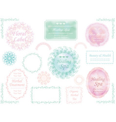labels set 3 vector image vector image