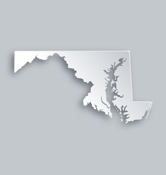 Map of the US state Maryland Royalty Free Vector Image
