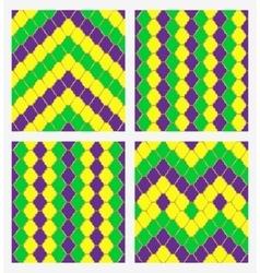 Mardi gras geometric seamless backgroun vector