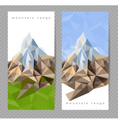 Mountains banners vector