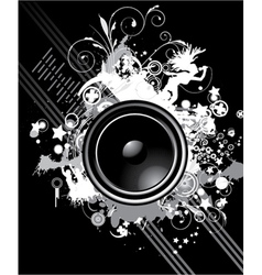 music poster with speaker vector image vector image