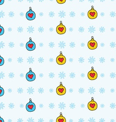 New year theme seamless pattern vector