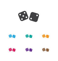 Of game symbol on dice icon vector