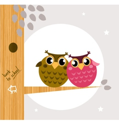owl friends vector image vector image