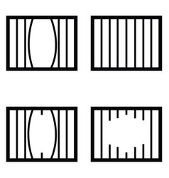 Prison icon set vector