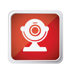 red emblem computer camera icon vector image vector image