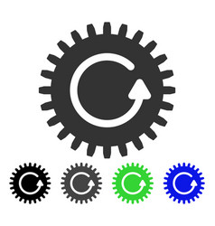 Rotate cog flat icon vector