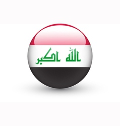 Round icon with national flag of Iraq vector image vector image