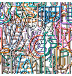 Seamless pattern of colorful alphabet vector image