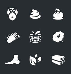 set of bath icons vector image vector image